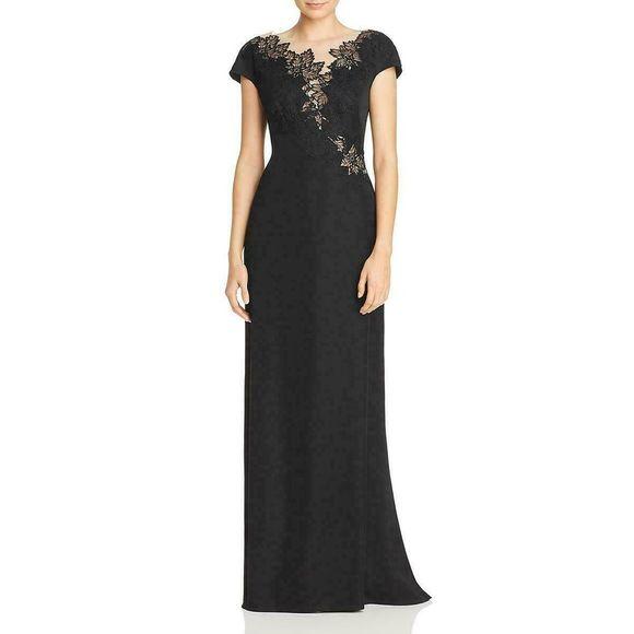 Tadashi Shoji Dresses & Skirts - Tadashi Shoji Lace Illusion Maxi Dress Lace Black